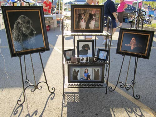 Display of pet portraits